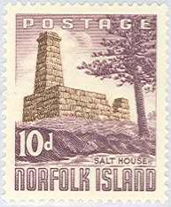Norfolk Isl. 1961 Salt House Scott 35 MNH.