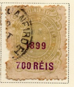 Brazil 1899 Early Issue Fine Used 700r. Surcharged Optd NW-12092
