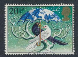 GB SG 1233 SC# 1037 - Used First Day Cancel - Christmas