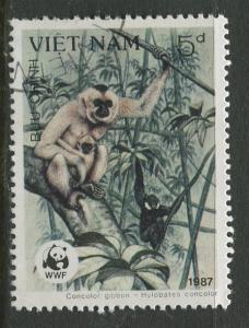 Viet Nam North - Scott 1762 - Douc Monkeys -1987 - FU -Single 5d Stamp
