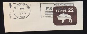 US #U608 with EXPRESS MAIL full cancel - Buffalo 22 cent