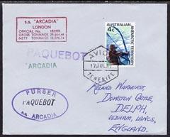 Australian Antarctic Territory used in Tenerife 1967 Paqu...