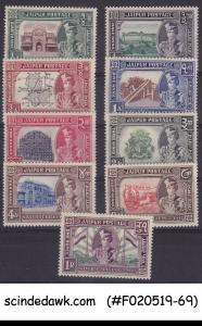JAIPUR STATE - 1947 SILVER JUBILEE OF MAHARAJA'S ACCESSION SG#71-9 9V MNH