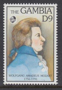 Gambia 1334 Mozart MNH VF