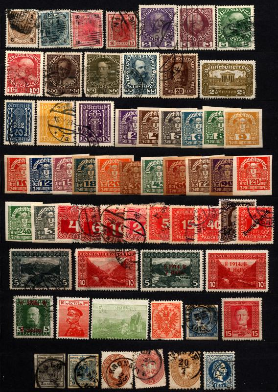 Austria & Area 1854-1919 Franz Josef M&U Lot 60 items