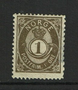 Norway SC# 35, Mint Hinged, multi Hinge Remnants, side thin - S9371