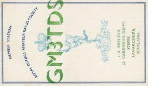 7415 Amateur Radio QSL Card  STEPPS LANARKSHIRE SCOTLAND