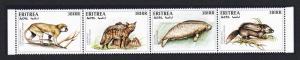 Eritrea Monkey Dugong Aardwolf Rat Endangered Animals 4v Strop SG#323-326 CV