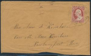 #11 ON COVER BELFAST, ME 3¢ PAID BR1630 HS100426