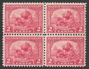 Doyle's_Stamps: MNH Scott #549** Block of 1920 Landing of the Pilgrims 2c Stamps