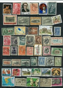 GREECE  MIX x47, ALL DIFFERENT,USED, LOT ehB