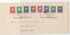 PARAGUAY TO NEW YORK  1940 REGISTERED  AIR  MULTI STAMPS COVER  REF 6175