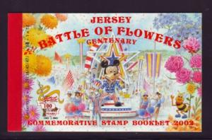 Jersey  Sc 1047a-1048a 2002 Battle of Flowers stamp booklet mint NH