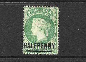ST HELENA  1884-94   1/2d   QV  MH  SPACED      SG 34a