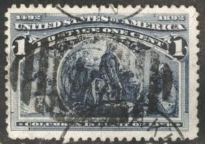 USA Scott 230 Used 1893 Colombian Expo