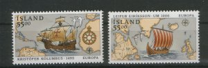ICELAND-MNH**  SET-EUROPA CEPT-1992.