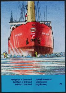 Greenland 452-5 in presentation folder MNH - Ships