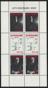 Suriname Bicentenary of Electricity 3v Sheetlet SG#2790-2792