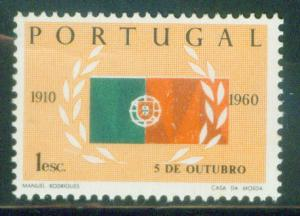 Portugal Scott 870 MNH** 1960 Flag Stamp