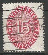 GERMANY, 1929, used 15pf, Numeral Scott O74