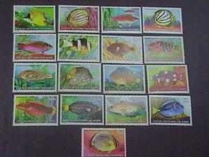 COCOS ISLANDS # 34-50-MINT/NEVER HINGED---COMPLETE SET----SHIPS----1979-80