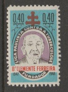 Brazil Charity TB revenue fiscal cinderella stamp-5-02-