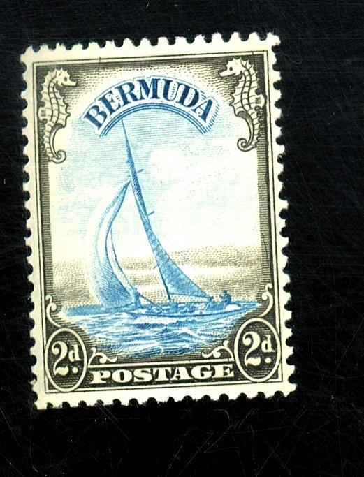 BERMUDA #109 MINT F-VF OG LH Cat $55