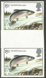 STAMP ERROR 1983 FISH 15 1/2p IMPERF PAIR ONLY 10 PAIRS KNOWN SG1207a CV £4250