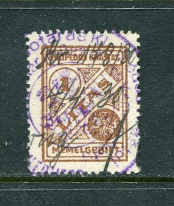 x420 - LITHUANIA MEMEL Klaipeda 1920s REVENUE Stamp