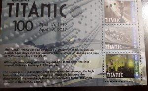 U) 2012, GAMBIA,  100 ANNIVERSARY OF THE TITANIC, PERFORATED
