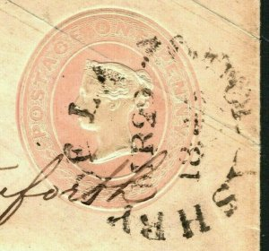 GB TOWN CANCELLATION Cover Ashby-de-la-Zouch CDS Penny Pink 1842 Leics RARE 992a