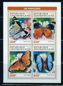 CENTRAL AFRICA  2018 BUTTERFIES SHEET  MINT NEVER HINGED