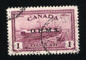 Canada #O10   u    VF 1949-50 PD