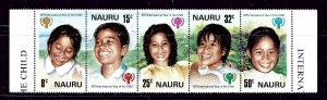 Nauru 205a MNH 1974 Intl Year of the Child strip (been folded)