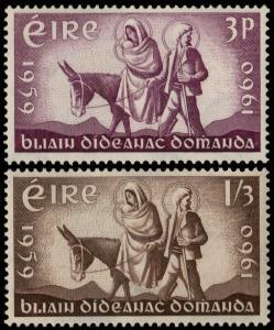 ✔️ IRELAND 1960 - FLIGHT OF THE HOLY FAMILY - SC. 173/174 MNH OG [IR0144]