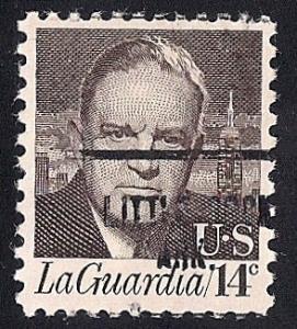 #1397A 14 cent Rare LaGuardia Precancel mint OG NH XF