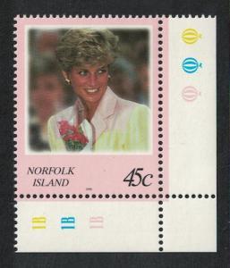 Norfolk Diana Princess of Wales Commemoration 1v Bottom Right Corners SG#664