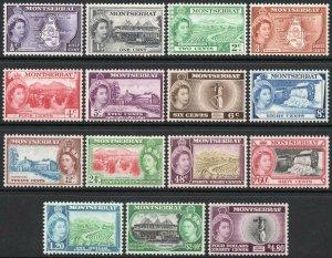 MONTSERRAT-1953-62 Set to $4.80 Sg 136a-149 MOUNTED MINT V43384
