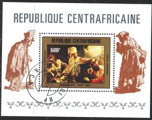 Central African Republic. 1981. bl114. Painting, paintings. USED.