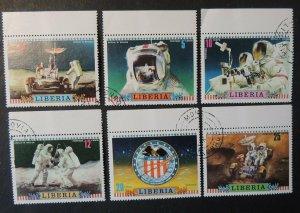Liberia 1972 apollo 16 space astronauts used