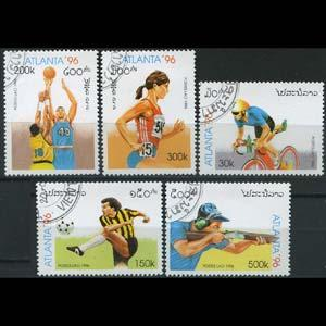 LAOS 1996 - Scott# 1254-8 Olympics Set of 5 CTO