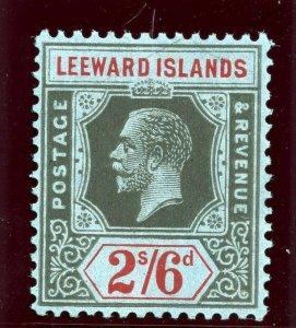 Leeward Islands 1923 KGV 2s6d black & red/blue superb MNH. SG 75. Sc 78.