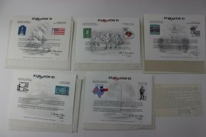 STAMPSHOW APS Philatelic Society Expo club Souvenir card lot 79 81 91 92 1993