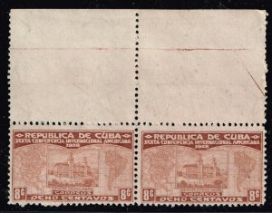 CUBA STAMP 1928 8C UNUSED NG PAIR STAMPS