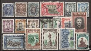Southern Rhodesia Sc 5/64 used 1924-43 issues, 18 diff.