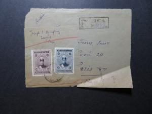 Persia 1920s Partial Cover to Paris / Creasing / US SHIPPING ONLY - Z11620