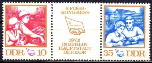 GDR. 1972. 1761-62. Trade Union Congress. MNH.