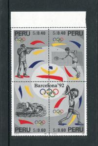 Peru 1140, MNH, Olympics Games Barcelona 1996. x29629
