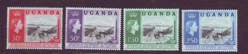 J23594 JLstamps 1962 uganda set mnh #79-82 queen