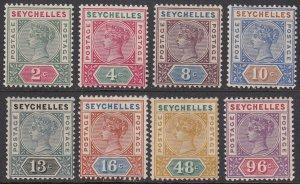 Seychelles 1a//18, SG1-8 MH / MLH / MVLH Die I CV $219.50